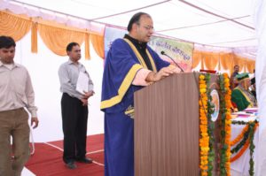 Chief Guest, (Late) Shri Arun Jaitly, Senior BJP leader and later becoming Finance Minister, Govt. of India On the occasion of 3rd Convocation of DBS (PG) College, Dehradun, 4th November, 2011 (Activity after retirement)